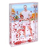 Glitter Picture Frame Liquid Best Friends Acrylic Floating Water Personalized Snow Globe Photo Frame Cute Family Couple Custom Gift