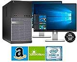 Dell Optiplex 9020 Mini Tower Desktop PC, Intel Core i5-4570, 16GB Ram, 2TB SATA Drive + 256GB SSD WiFi, DVD-RW, Dual 19' LCD, Windows 10 Pro (Renewed)