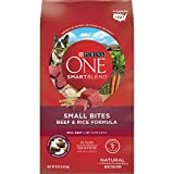 Purina ONE Natural Dry Dog Food; SmartBlend Small Bites Beef & Rice Formula - 8 lb. Bag