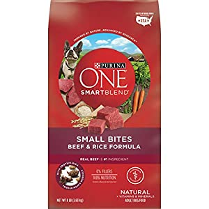 Purina ONE Natural Dry Dog Food; SmartBlend Small Bites Beef & Rice Formula – 8 lb. Bag