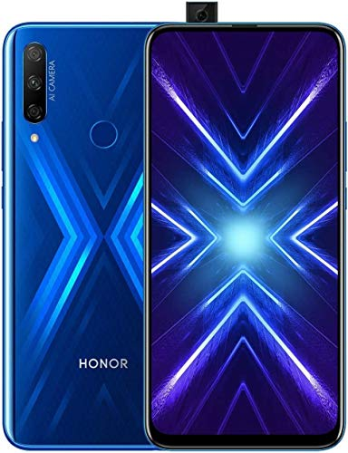 HONOR 9X Phantom Blue - Smartphone B&le (6,59 Zoll Bildschirm, 128 + 4 GB) + 48MP AI Triple-Kamera + 16MP Pop-up Frontkamera + gratis HONOR Classic Earphones [Exklusiv bei Amazon] – Deutsche Version