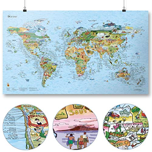 Surf Maps World Map Surf Accessory One Size Multi