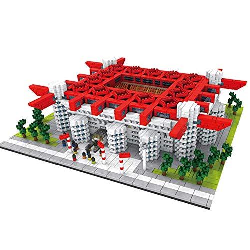Lan San Siro Stadion 3D Puzzel Model, 3800 + PCS Building Block DIY Toys, 3D-puzzel DIY educatief speelgoed, geschikt voor kinderen en voetbalfans