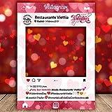 setecientosgramos Photocall White| San Valentín| Marco Enamorados| PhotoBooth Amor(Cartón 4mm) (70x100)