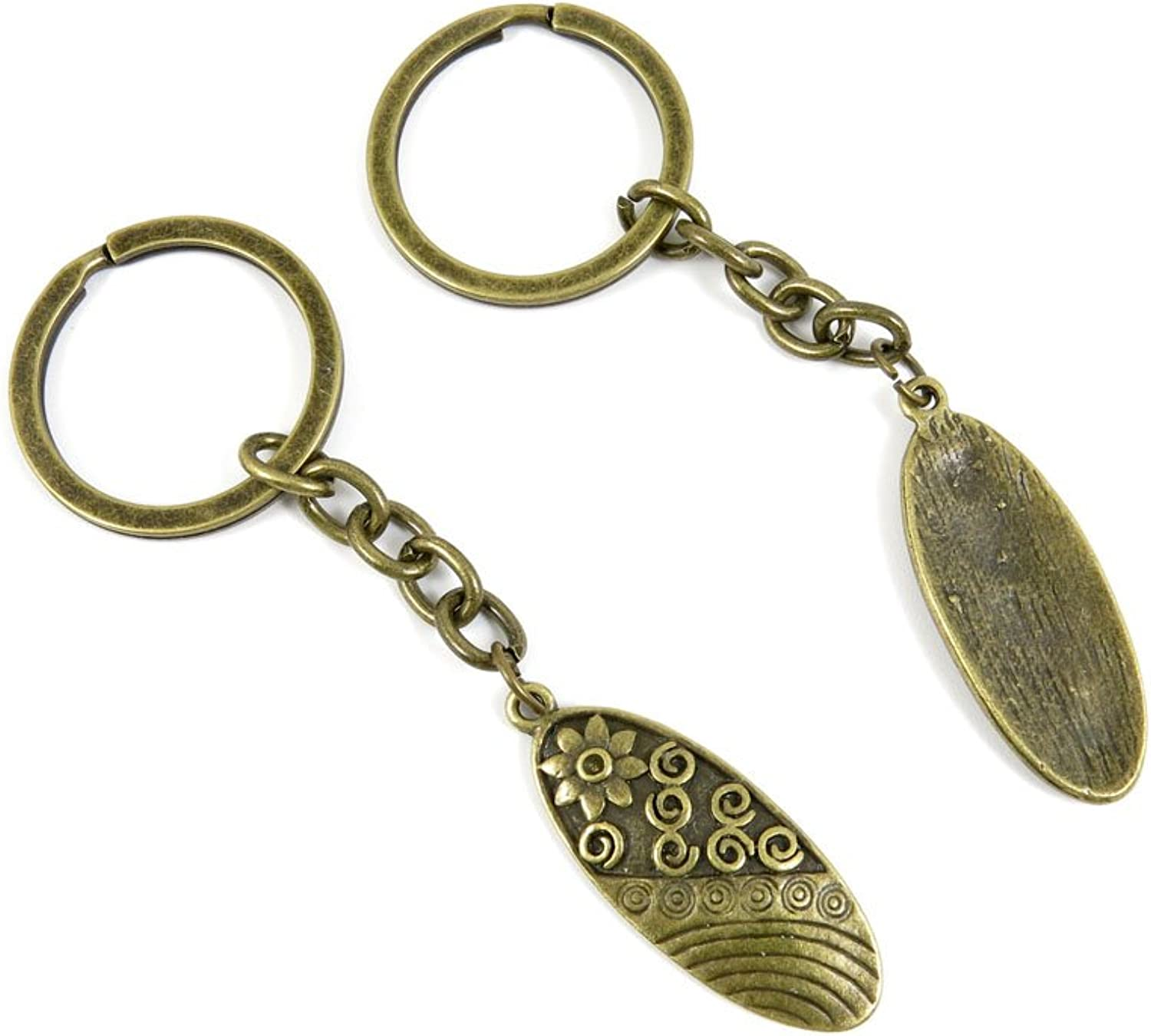 80 PCS Keyring Car Door Key Ring Tag Chain Keychain Wholesale Suppliers Charms Handmade K3DH9 Flower Signs
