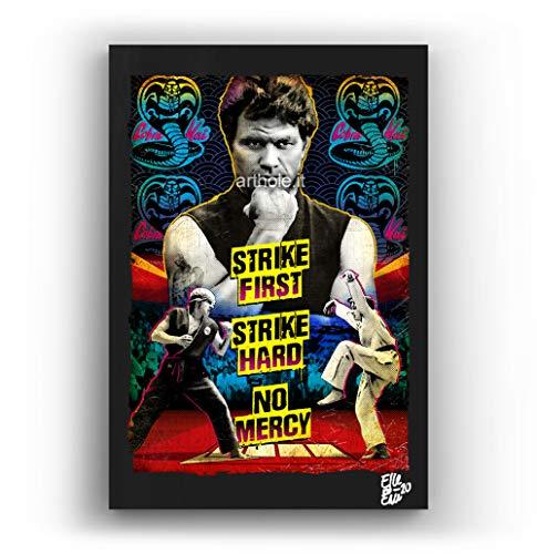 Sensei Kreese de la película The Karate Kid - Pintura Enmarcado Original, Imagen Pop-Art, Impresión Póster, Impresion en Lienzo, Cuadro, Cómics, Cartel de la Película, Cobra Kai