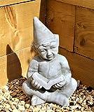 Grande Pixie Elf Fairy Garden en céramique Ornement Figure lire un livre