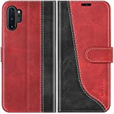 Mulbess Funda para Samsung Galaxy Note 10 Plus, Funda Móvil Samsung Note 10 Plus, Funda Libro Samsung Galaxy Note 10 Plus con Tapa Magnética Carcasa para Samsung Galaxy Note 10 Plus Case, Vino Rojo