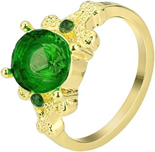 winsopee Gorgeous Ring Band Jewelry Gold Filled Round Sapphire Women's Wedding Ring