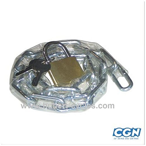 Motodak diefstalbeveiliging voor fiets, ketting 70 cm en hangslot (5 mm)