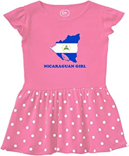 Cute Rascals Nicaraguan Girl Short Sleeve Taped Neck Girl Cotton Toddler Rib Dress School Clothes - Hot Pink, 2T