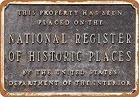 2個 家の印国家歴史登録財-素朴な家の装飾レトロな錫の印8X12インチ