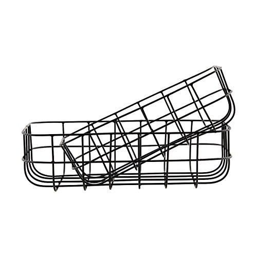 Preisvergleich Produktbild House Doctor 205340374 Korb,  Simply,  Schwarz,  Set von 2 Größen,  S: 16x24 cm,  L: 20x28 cm,  h: 8 cm,  Eisen