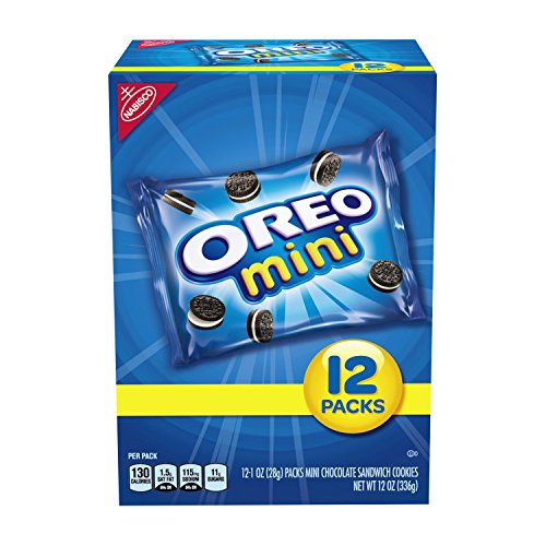 Oreo Mini Chocolate Sandwich Cookies Snack Packs, 12 Count Box