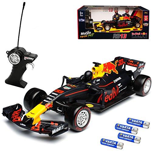 Maisto Red Bull RB13 Max Verstappen Nr 33 Formel 1 2017 27 MHz RC Funkauto - inklusive Batterien - sofort startklar 1/24 Modell Auto*