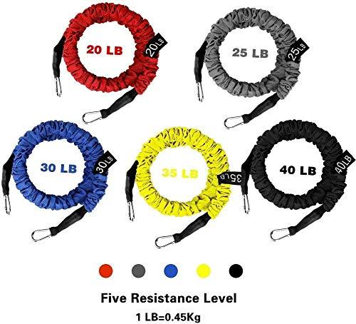 5 Cuerdas Elásticas de Fitness WEINAS® Set de...