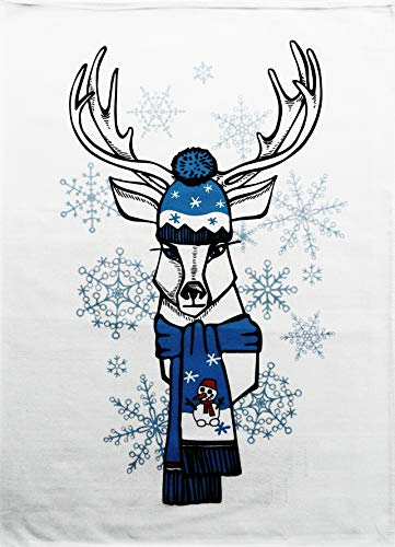 Half a Donkey The Christmas Reindeer Large Cotton Tea Towel