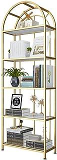 Étagères de cuisine, étagère de rangement multicouche pour produits cosmétiques et ongles, doré - 120 cm