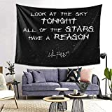 Lil Peep Star Shopping Lyrics Starry Background Boutique Tapestry Wall Hanging Tapestry Vintage Tapestry Wall Tapestry Micro Fiber Peach Home Decor 60x80inch