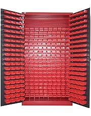 Armario para piezas pequeñas, color antracita, para almacenamiento, tornillos, armario de acero, moldau, 340 cajas, gran espacio de almacenamiento, XXL
