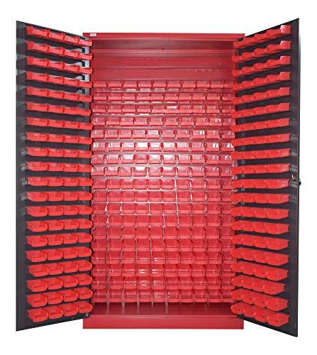 Kleine onderdelenkast Jet-Line antraciet 1,2 x 2 m opslag schroeven kast stalen kast Moldau 340 boxen schroevenkast XXL magazijn meubilair