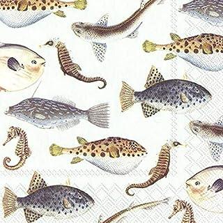 Fish of The SEA Lichtblauw IHR Servetten 33 cm Vierkant 20 Pack