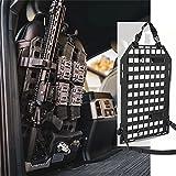 PETAC GEAR Rigid MOLLE Panel Vehicle Car Back Seat Organizer Rifle Gun Rack Mount Bracket Display Modular Storage Platform Black 14.2in x 23.4in
