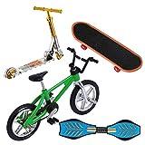 VOSAREA - Mini dedo, juego de dedo, mini bicicletas, scooter, miniatura, tabla de columpio, planchas con ruedas, movimiento deportivo de la punta de los dedos para el entrenamiento de los