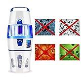 JUYHTY Lampada Germicida UV, Lampada Repellente per Zanzare 15W, Lampada di Disinfezione A 360 ° UV...