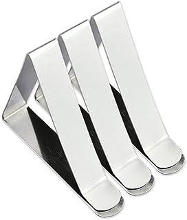 TOYANDONA 10pcs 5cm Triangolo in acciaio inox Clip per tovaglie Triangolo regolabile Morsetti in tessuto