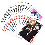 MH MGFHOME Sword Art Online Anime Playing Cards Paper Poker Cards