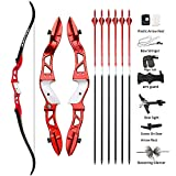 66 Inch Archery Takedown Recurve Bow Athletic Competition Bow 22-38lbs Right Hand
