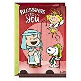 Hallmark Pop Up Religious Peanuts Christmas Card with Song (Blessings to You)