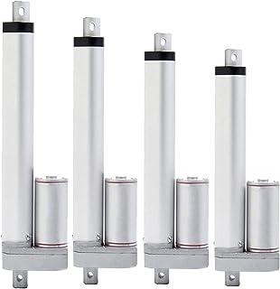 リニアアクチュエータ 電気線形アクチュエータ速度20mm / s 100/200/300/500/600/700/800/900 / 1000mmストロークリニアモーターコントローラDC12V24Vスラスト400N (Speed(RPM) : ...