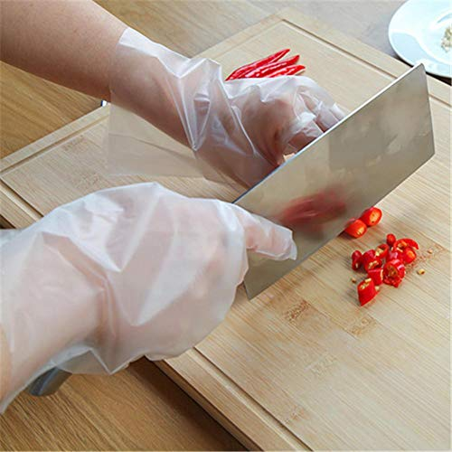 SNIIA Einweghandschuhe Aus Durchsichtigem Kunststoff, 100PCS-Handschuhe Lebensmittelsichere Polyethylenhandschuhe Zum Kochen, Reinigen Und Umgang Mit Lebensmitteln eco - Friendly