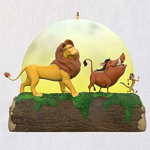 Hallmark Keepsake Christmas Ornament 2019 Year Dated Disney The Lion King 25th Anniversary Light and Sound (Plays Hakuna Matata)