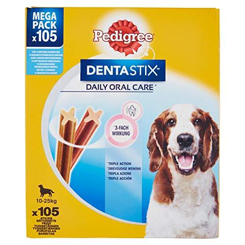 PEDIGREE DentaStix Daily Dental Chews für mittelgroße Hunde, 105 Stück (15x7 Stück)