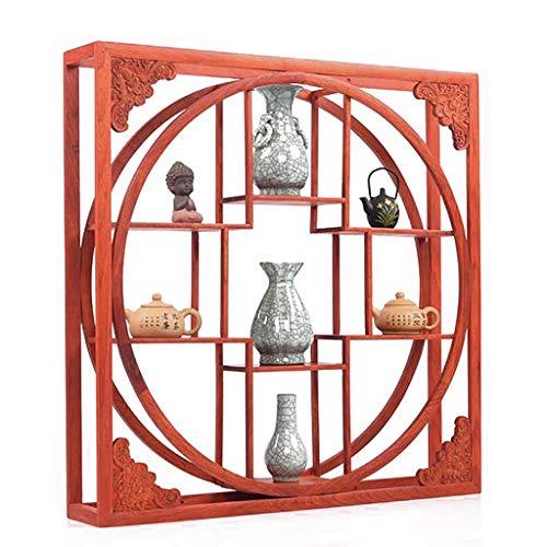 Schweberegale Wandregal Chinesisches Palisander Carving Wandhalterung Kunsthandwerk Wanddekoration Bücherregal Antiker Rahmen (Color : A)