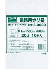 TRUSCO(トラスコ) 業務用ポリ袋0.1×20L 10枚入 S-0020