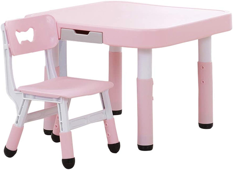 GYiYi Kindertisch Stuhl Set, Kinder AktivitT Kunststoff Schreibtisch Mit Schubladen, Esstisch, FüR Spiele Malerei, Platz Schreibtisch