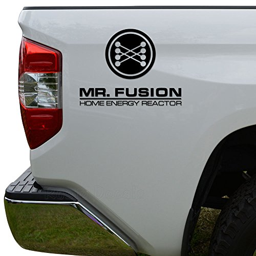 VINMEA Rosie Decals Mr Fusion Back to The Future Die Cut Vinyl Decal Sticker for Car Truck Motorcycle Window Bumper Wall Decor Size- [6 inch/15 cm] Wide Color- Black