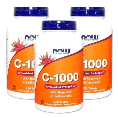 3個セット ビタミンC-1000(ローズヒップ・バイオフラボノイド配合) 250粒 [海外直送品]