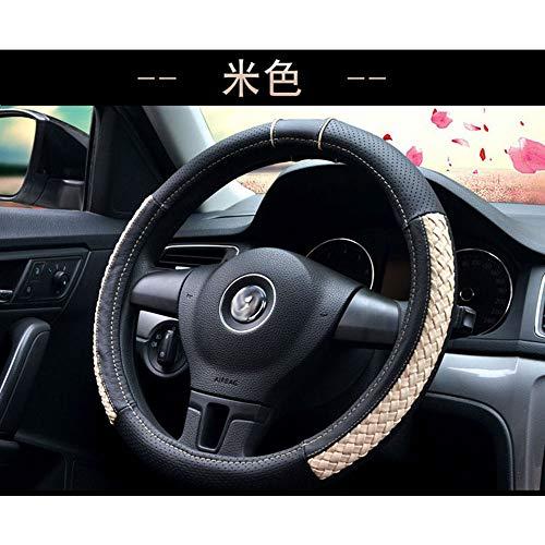 JXSMFXP Auto Stuurwiel cover Vlecht deksel op het stuur diameter 37/38 cm. voor bmw e46 e90 g30. voor Ford. voor mazda 3