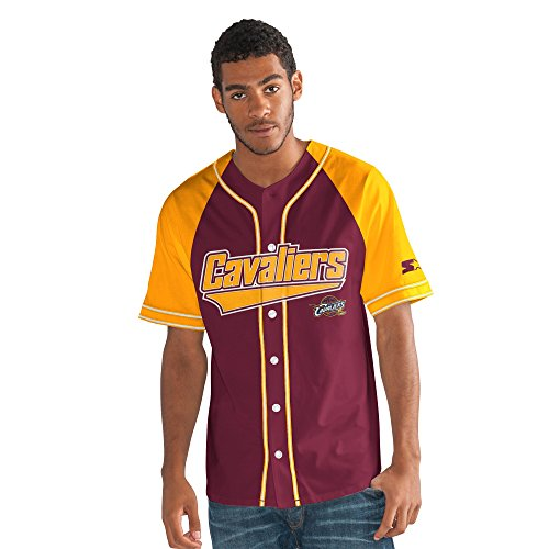 STARTER NBA Atlanta Hawks Herren 's The Player Baseball Jersey, Herren, The Player Baseball Jersey, kastanienbraun