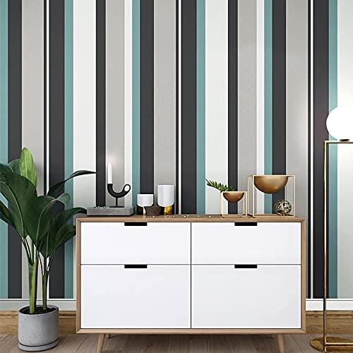 TFJJSQA Sonder/Schlicht Nichtgewebte gestreifte Tapete Schlafzimmer Wohnzimmer Tapete TC2604 / Faro rot (Color : Tc2602/Light Beige, Size : 0.53 * 10m)