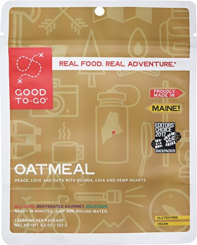 GOOD TO-GO Oatmeal | Dehydrated Backpacking and Camping Food | Lightweight | Easy to Prepare
