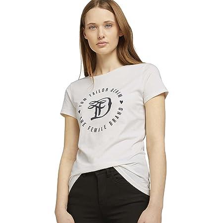 TOM TAILOR Denim Damen Basic Logo Basic Logo T-Shirt