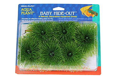 Penn Plax Fish Breeding Grass – Baby Hideout, Safe Hiding for Fry – Decorative Aquarium Grass