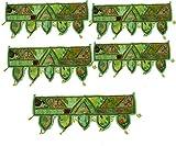 Handicraft Bazarr 1 Mtr 5 Set Bordado Patchwork Puerta Colgante Decorativo Algodón Toran Decoración de la Pared Decorativa Decorativa Decoración de Patchwork Cenefas