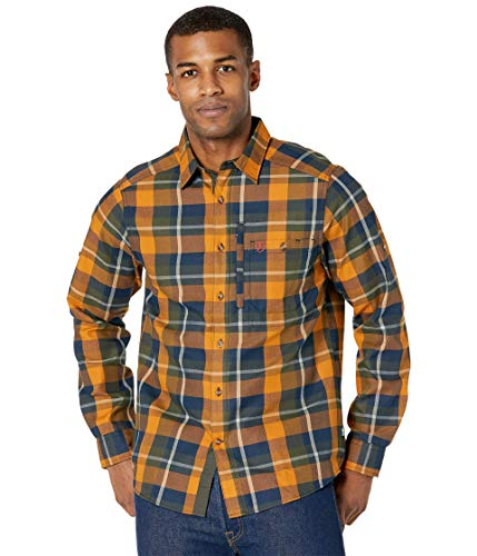 FJÄLLRÄVEN Fjällglim Shirt à Manches Longues Homme, Deep Forest, FR : 2XL (Taille Fabricant : XXL)